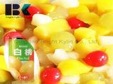 중국은 노란 복숭아 유아식을 통조림으로 만들었다