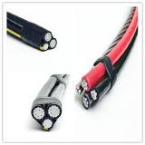 Наверху воздушный прыгнутый кабель, алюминиевый кабель падения обслуживания дуплекса проводника для передачи