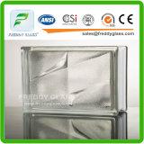 Blocco di vetro/mattone di vetro/mattone d'angolo di vetro/mattone della spalla/blocco di vetro trasparente