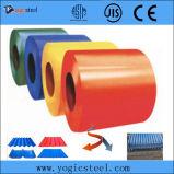 A cor de Ral Prepainted a bobina de aço de Galvanied
