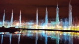 Anka公園トルコの音楽的な噴水のダンスの噴水