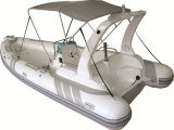 Barca gonfiabile della nervatura, imbarcazione a motore di sport, peschereccio Rib580b con il CERT del CE