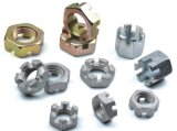 Slotted Hex Nuts DIN935 com Carbon Steel Zinc Plated