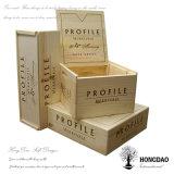 Hongdao hölzerner Kasten, unfertiger hölzerner Wein-Kasten mit Fabrik-Preis