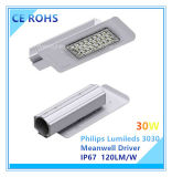 Lámpara de calle Ultra-Delgada de 120W Philips Lumileds LED con el programa piloto de Meanwell
