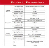 машина маркировки лазера волокна 20With 30W /50W для трубы пластмассы PP/PVC/PE/HDPE