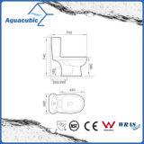 Toilette duelle en deux pièces de lavage à grande eau (ACT5202)