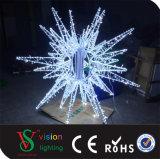 Luces al aire libre del adorno de la estrella de la decoración 3D de la calle de la Navidad