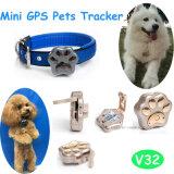 Animais domésticos Dispositivo de rastreamento GPS com carregamento sem fio (V32)