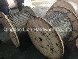 De gegalvaniseerde/Kabel van de Draad van het Roestvrij staal 8*41ws+Iws