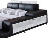LED를 가진 가죽 침대
