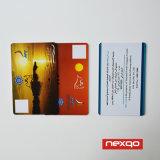 Unbelegtes Plastikweißes/Zoll der Größen-Cr80 druckten Karten-Stützneuauflage Belüftung-Identifikation-Card/IC