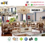 Antike Möbel-europäisches ledernes Couch-Sofa (HC801-1)