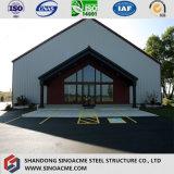 Construction de bâtiments légère diplôméee par ce de bâti en acier de mesure