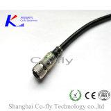 LED 표시기 여성 4pin는 똑바른 램프 M12 케이블 연결관을 방수 처리한다