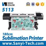 1.8m Sinocolor Wj-740 2880dpi Dx7の織物プリンター