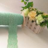 Matéria têxtil estreita elástica da forma da tela do laço do aparamento
