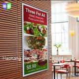 Blocco per grafici Backlit a schiocco del manifesto del LED che fa pubblicità per l'insegna dell'ufficio della parete