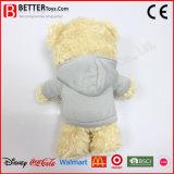 Urso macio da peluche do urso do brinquedo do luxuoso do animal enchido da promoção em Hoodie