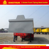 Rectángulo fuerte del cargo de Sinotruk 60 toneladas de vaciado del carro de acoplado semi con alta calidad