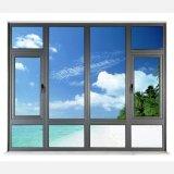 Ventana de cristal del oscilación doble de aluminio exterior del marco de la buena calidad