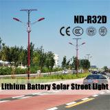 Indicatore luminoso di via solare diplomato Ce del LED per una strada urbana dei 2 vicoli che illumina stile popolare