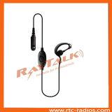Écouteur de forme de G avec de petites PTTs de revers pour Motorola, Kenwood, Icom, Hirose, Hytera, Sepura, etc.