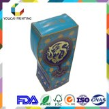 Boîte de forme irrégulière de luxe sur mesure avec surface d'impression UV dorée