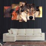 HDはモジュラー絵画動物の森林オオカミのキャンバスプリント芸術の居間Mc154のための現代ホーム装飾の壁の芸術映像を印刷した