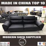 Sofá moderno de couro da sala de visitas (Lz1588)