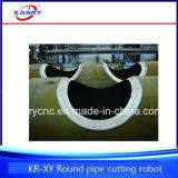 Estaca do plasma do CNC da tubulação de aço de 5 linhas centrais e máquina de chanfradura