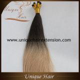 Оптовые европейские выдвижения волос кератина Ombre Remy девственницы