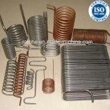 Acier inoxydable et tube spiralé d'en cuivre dans l'échangeur de chaleur