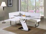 La salle à manger de modèle italien contemporain met le Tableau dinant blanc (NK-DTB045)