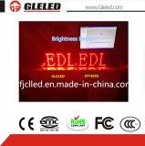 Напольный одиночный экран дисплея красного цвета СИД для случаев