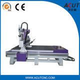 3頑丈なフレームが付いているプロセスCNC木製の切り分ける機械