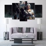 HD drukte Het Schilderen Witcher Geralt en Ciri op Canvas mc-081 van het Beeld van de Affiche van het Af:drukken van de Decoratie van de Zaal van het Canvas af