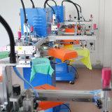 Machine d'impression plate rapide d'écran en soie d'étiquette d'étiquette de T-shirt de deux couleurs