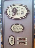 Sinais de bronze da placa da porta do nome do número de unidade do inquilino do número de quarto do metal