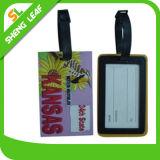Выполненный на заказ PVC логоса резиновый бирка багажа (SLF-LT024)