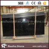 白い静脈が付いている低価格の黒のNero Marquinaの大理石の平板