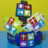 Silicone Wristband per Complex Logo (NOG-SW)
