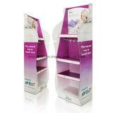 Профессиональная индикация паллета картона с 4c офсетной печатью, бумажная стойка индикации, бумажная стойка индикации