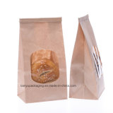 Sacos da padaria, saco de papel de Brown, sacos do fechamento da aba do laço do estanho