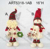 Ornamentos Legged del árbol de navidad del muñeco de nieve del botón, -3asst.