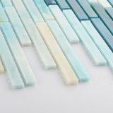 Handschnitt-Streifen-blaue Muster-Fliese-Glasmosaik für Verkauf