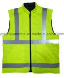 Acolchado impermeable de adulto acolchado Ropa de seguridad reflectante Cuerpo calentador chaleco reversible