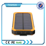 二重USB 5V 2A 10000mAhの太陽エネルギーバンク