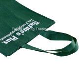 Grün-nicht gesponnene Einkaufstasche mit Drucken