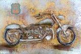 arte del metallo 3D per la disfatta 66 di Motobike